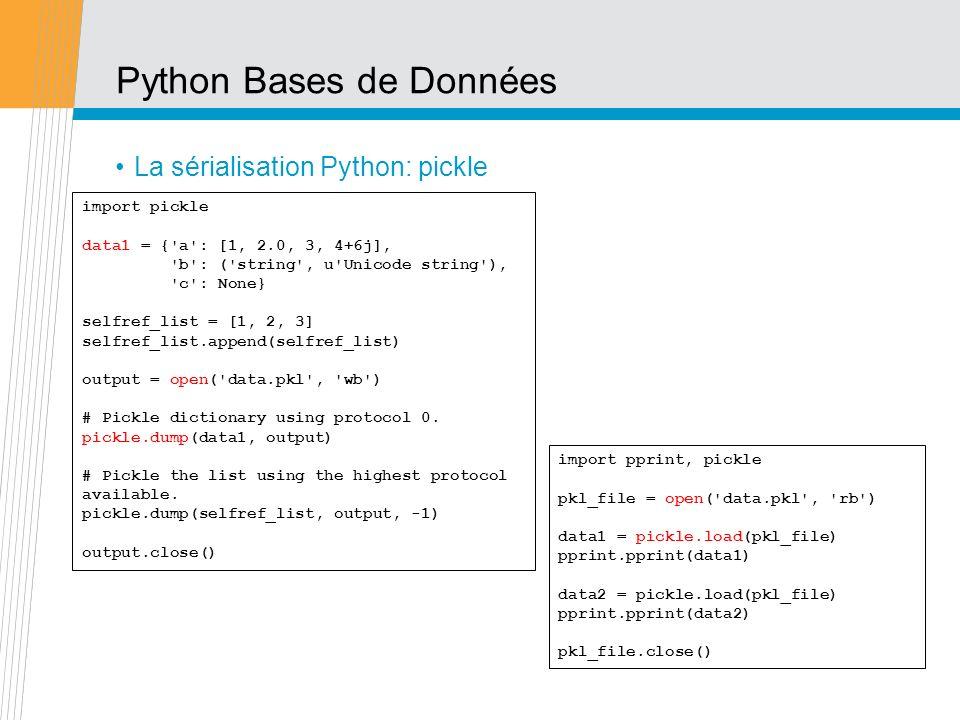 Python Bases de Données