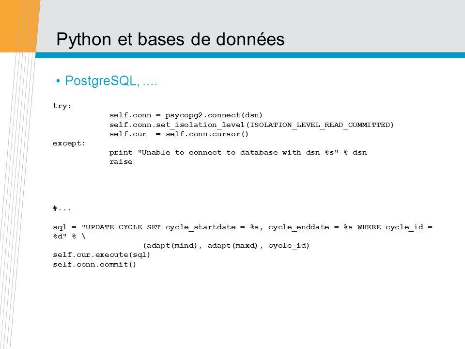 Python et bases de données