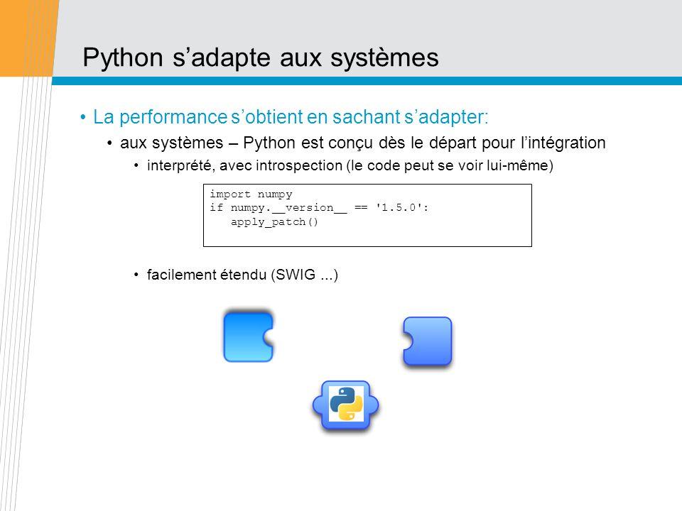 Python s'adapte aux systèmes