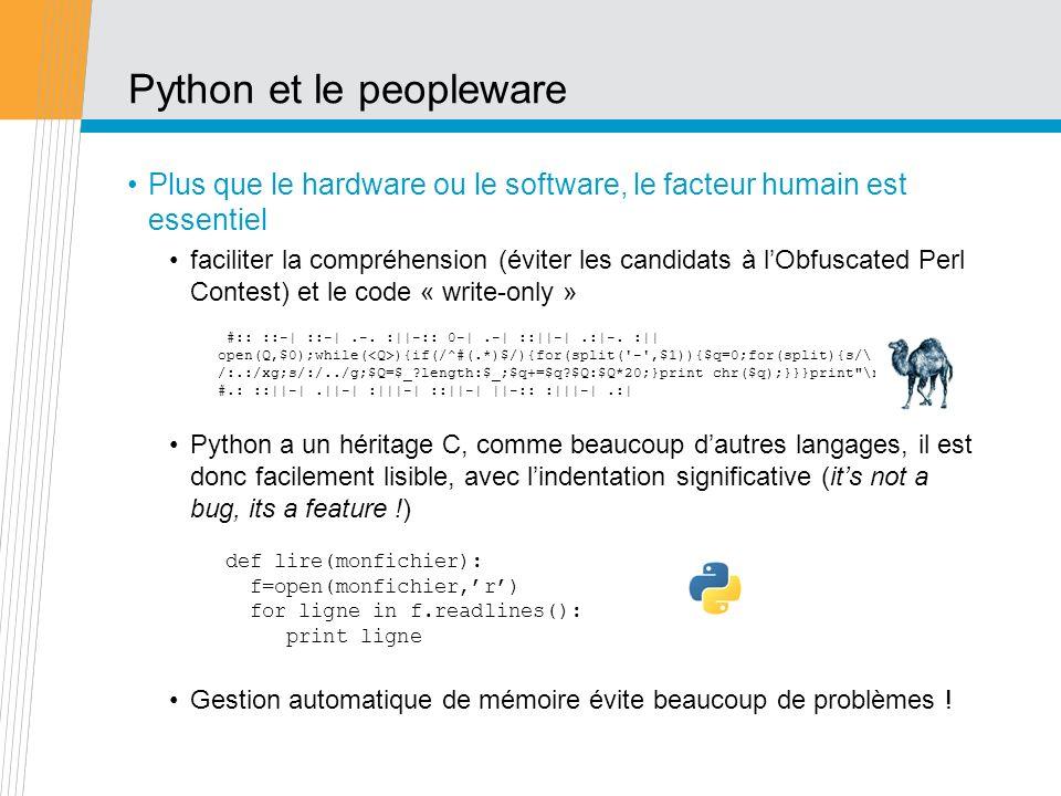 Python et le peopleware