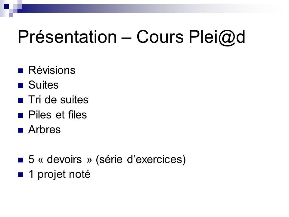 Présentation – Cours Plei@d