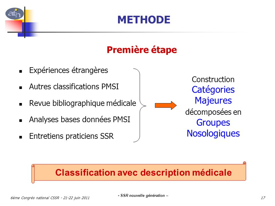 Classification avec description médicale