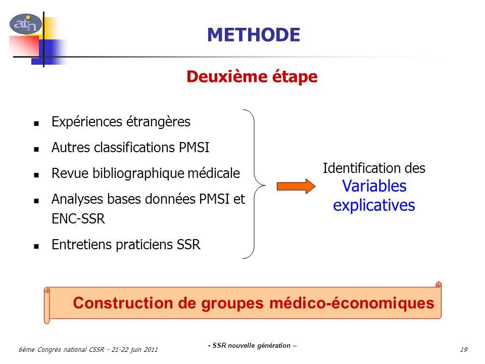 Construction de groupes médico-économiques