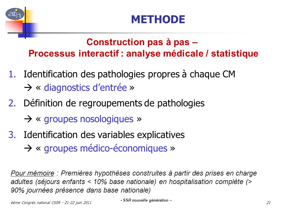 METHODE Construction pas à pas –