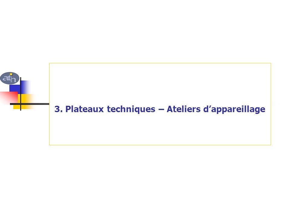 3. Plateaux techniques – Ateliers d'appareillage