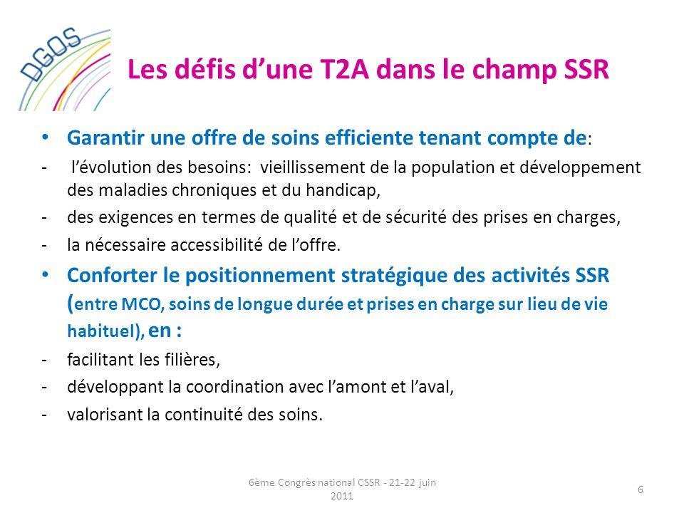 Les défis d'une T2A dans le champ SSR