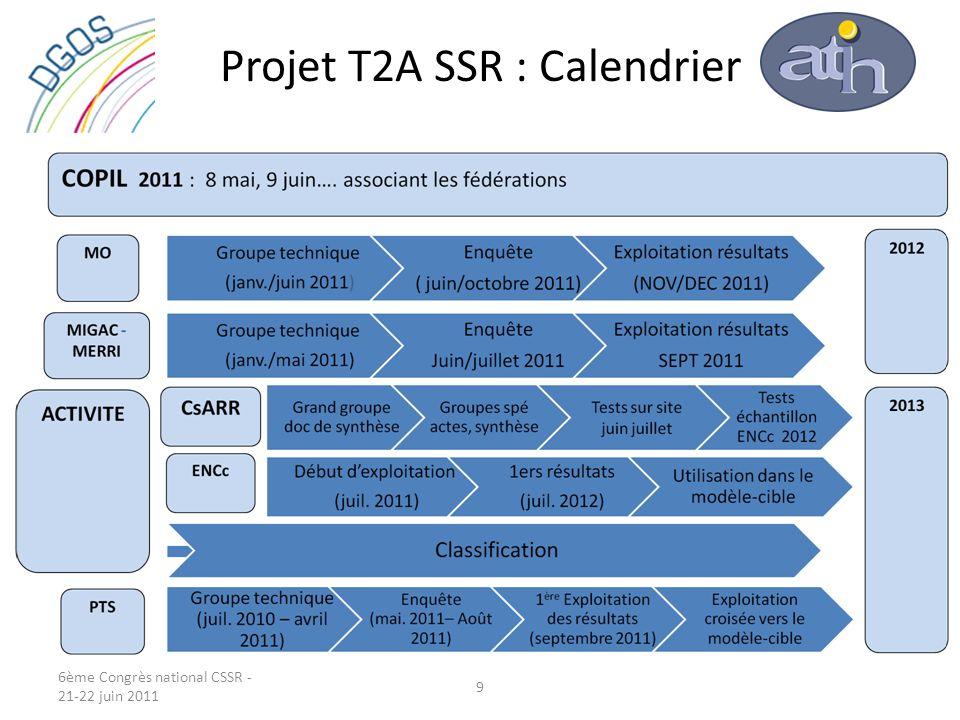 Projet T2A SSR : Calendrier