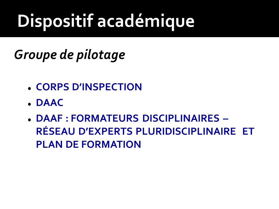 Dispositif académique