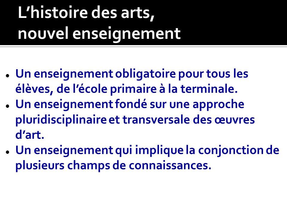 L'histoire des arts, nouvel enseignement