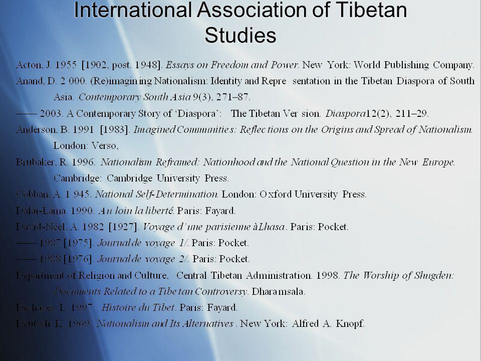 International Association of Tibetan Studies