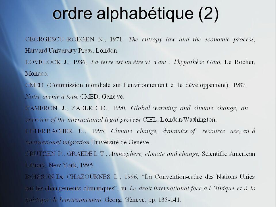 ordre alphabétique (2)