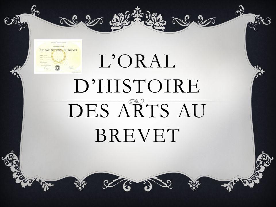 L'oral d'Histoire des Arts au Brevet