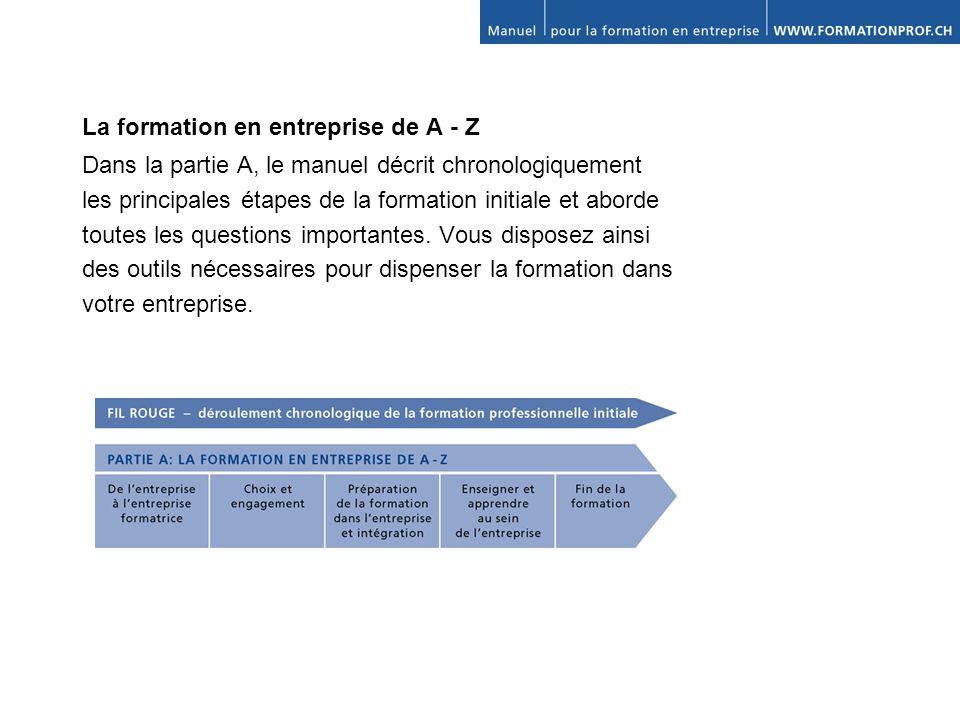 La formation en entreprise de A - Z