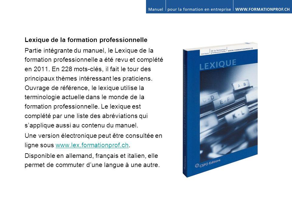 Lexique de la formation professionnelle