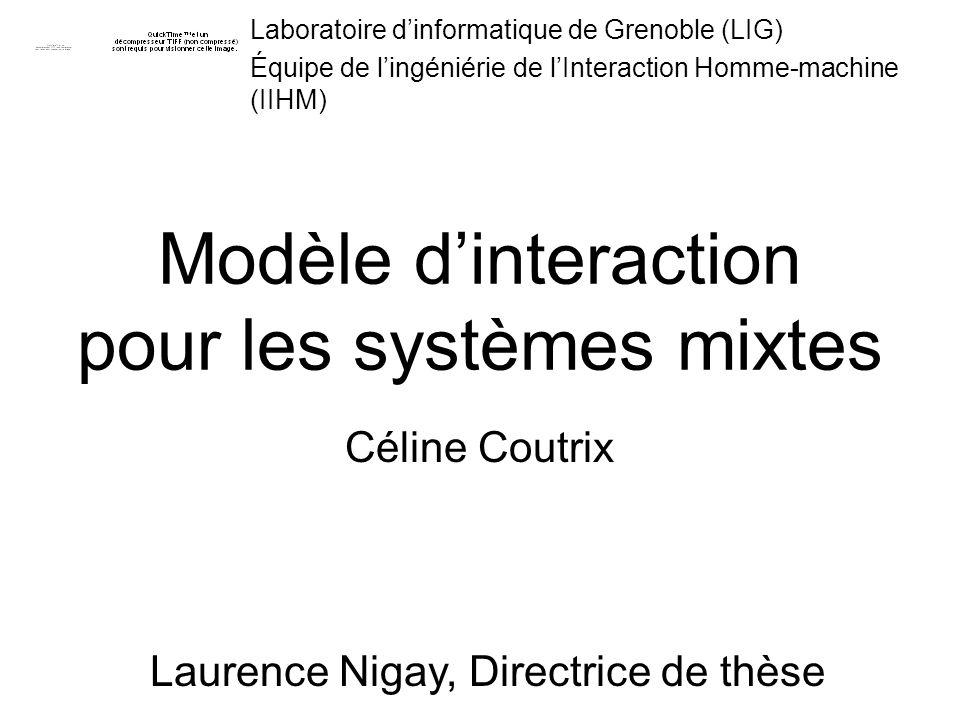 Modèle d'interaction pour les systèmes mixtes