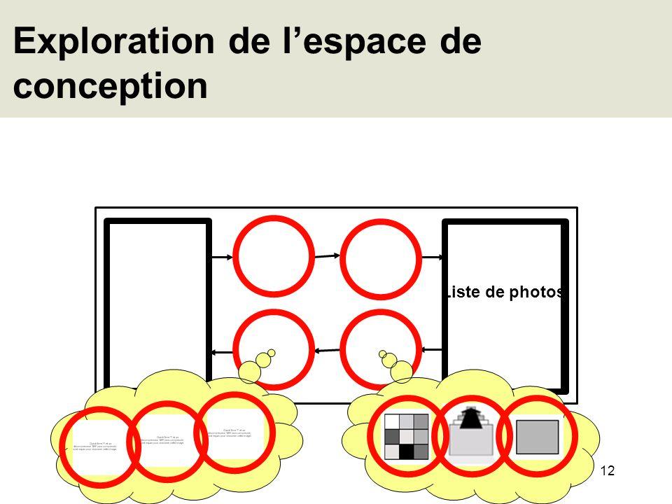 Exploration de l'espace de conception