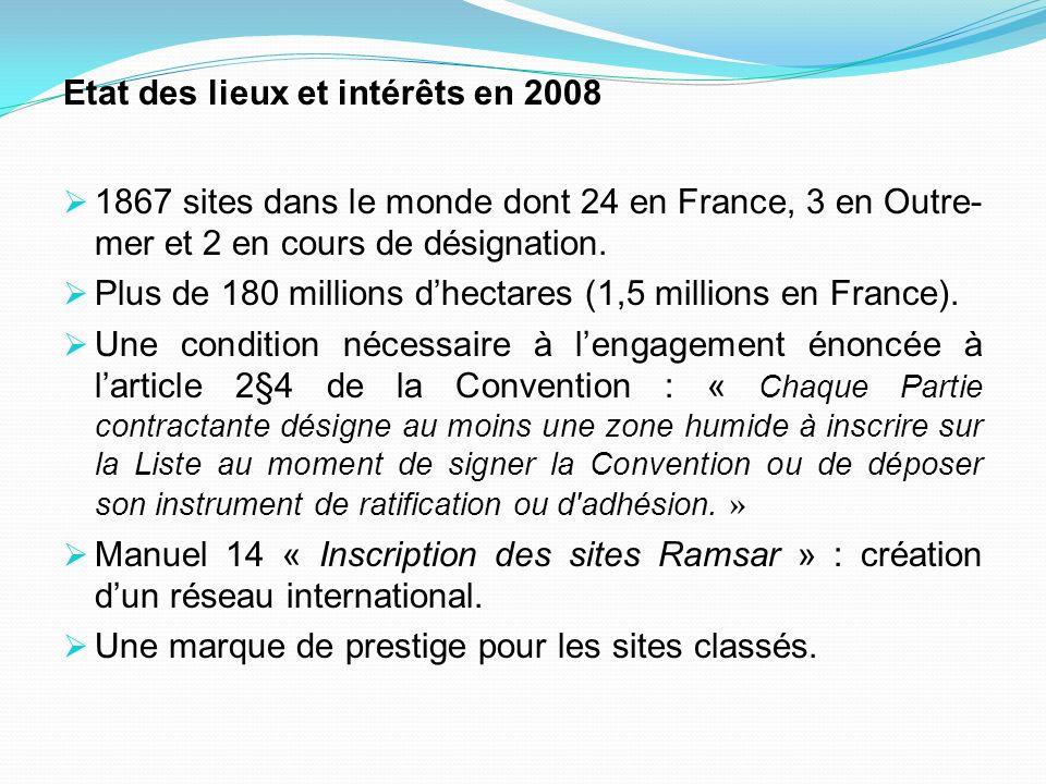 Etat des lieux et intérêts en 2008
