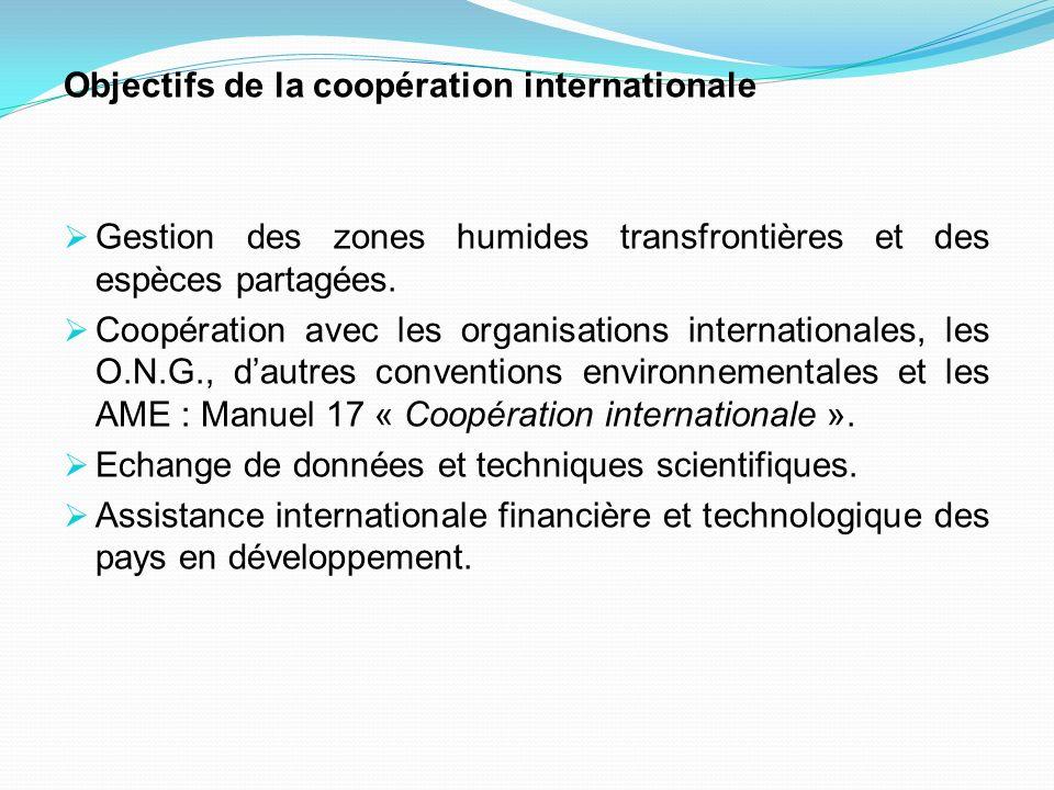 Objectifs de la coopération internationale