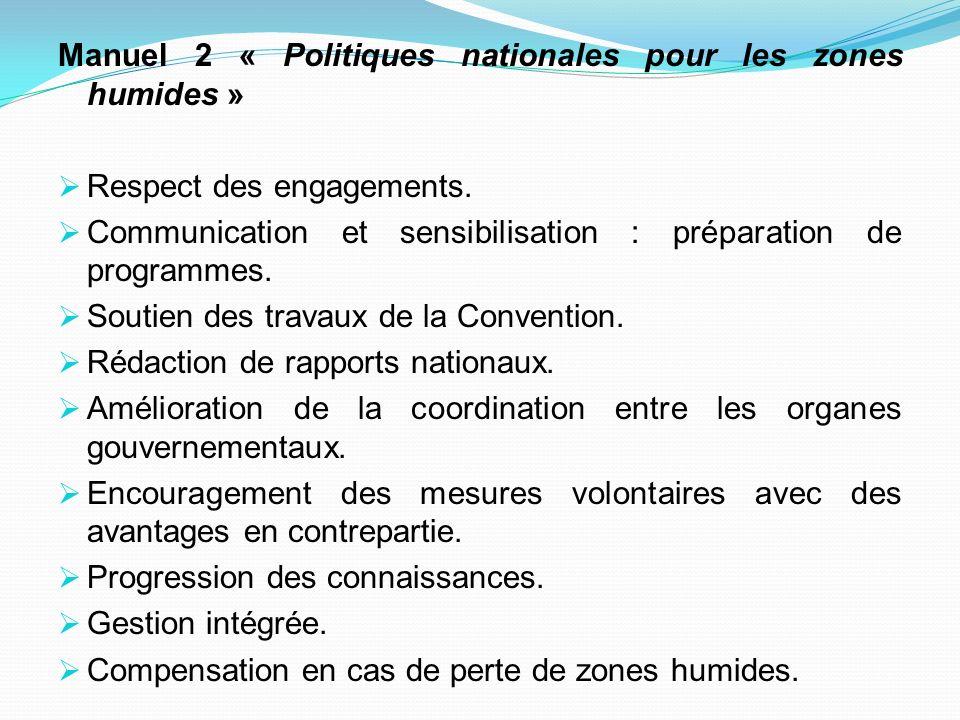 Manuel 2 « Politiques nationales pour les zones humides »