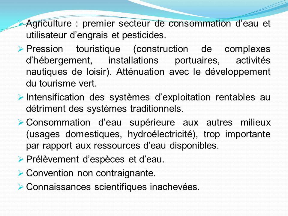 Agriculture : premier secteur de consommation d'eau et utilisateur d'engrais et pesticides.
