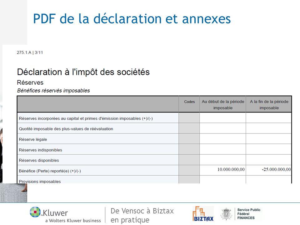 PDF de la déclaration et annexes