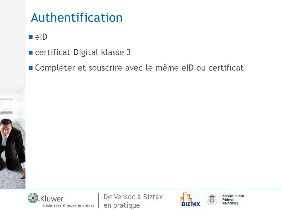 Authentification eID certificat Digital klasse 3