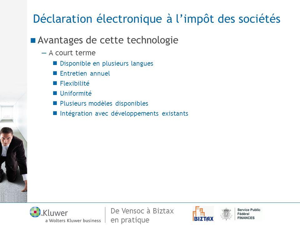 Déclaration électronique à l'impôt des sociétés