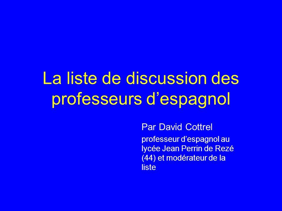 La liste de discussion des professeurs d'espagnol