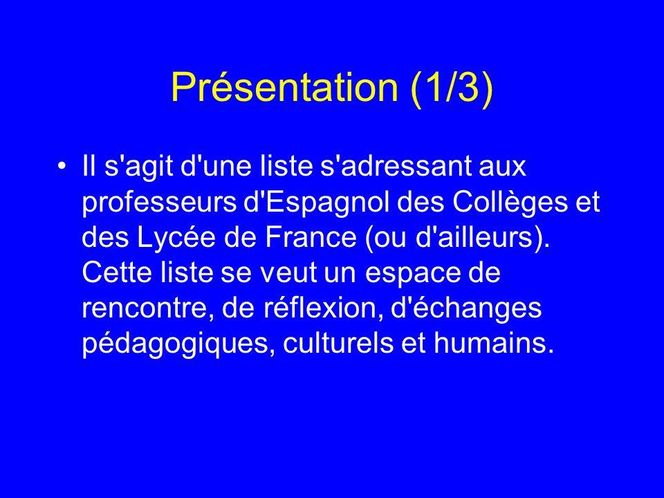 Présentation (1/3)