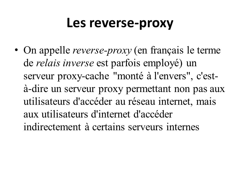 Les reverse-proxy