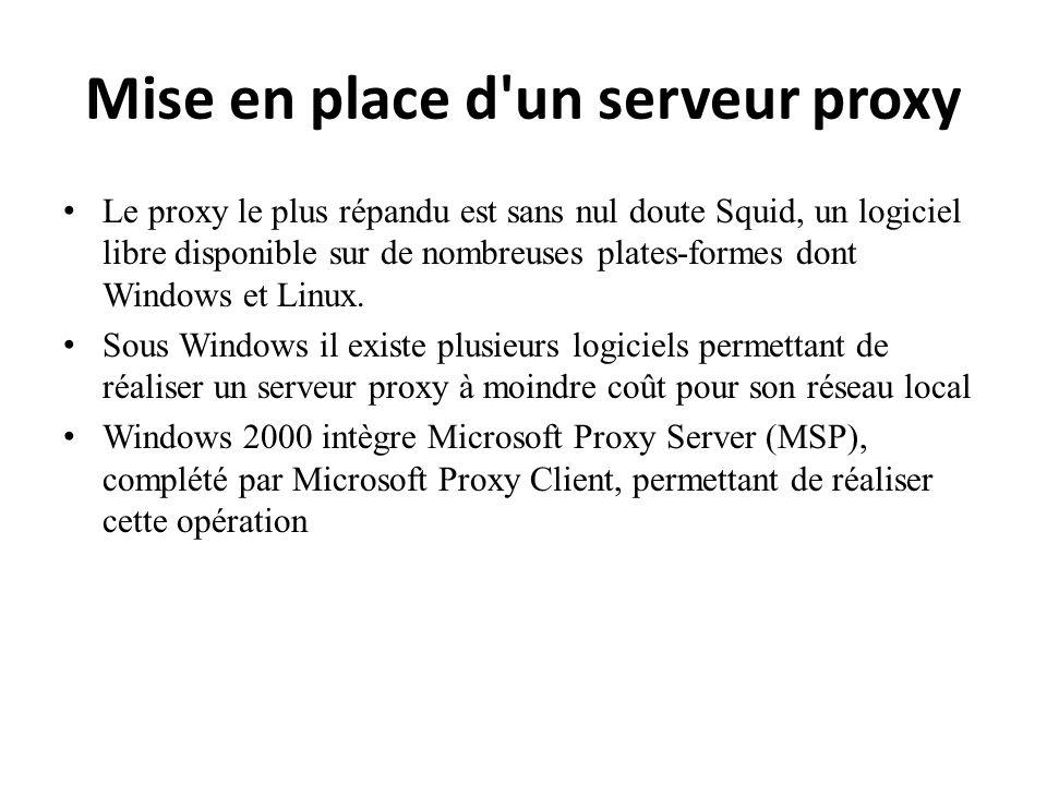 Mise en place d un serveur proxy