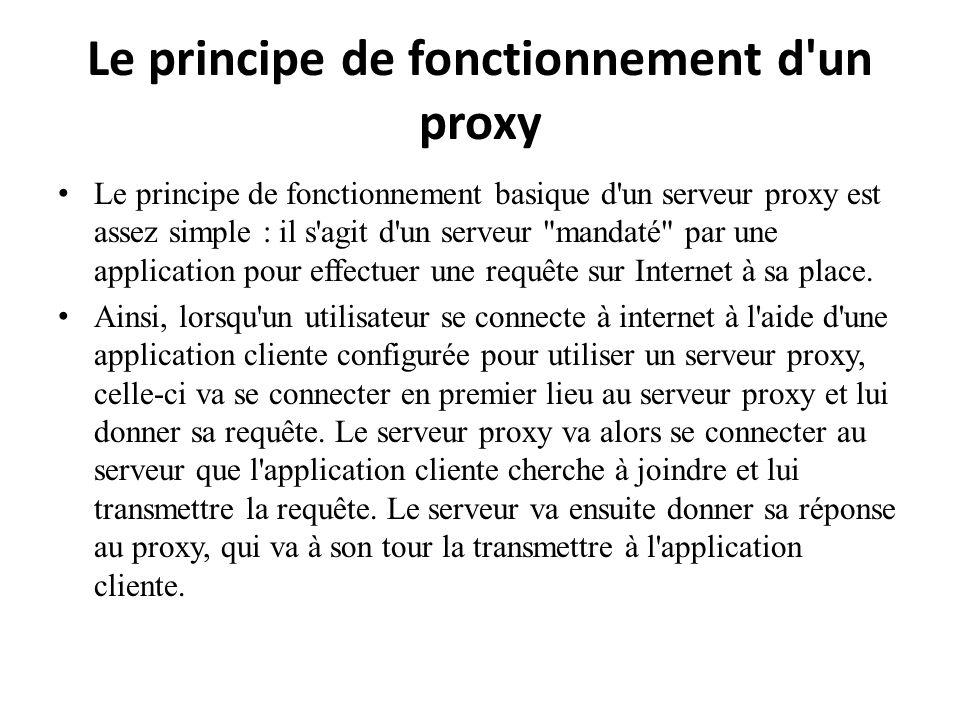 Le principe de fonctionnement d un proxy