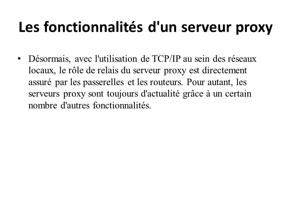 Les fonctionnalités d un serveur proxy