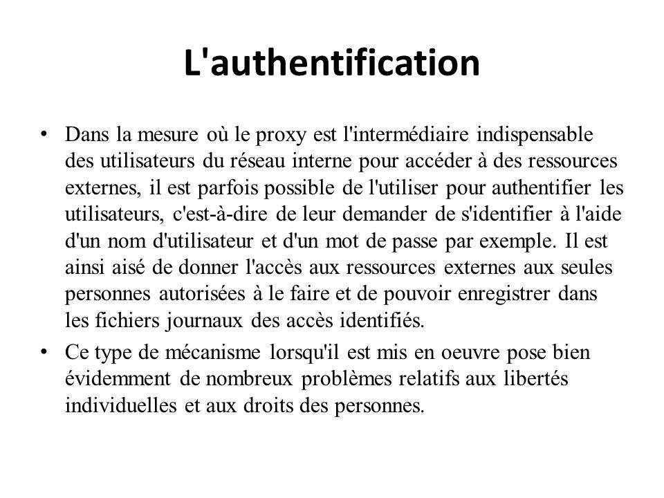 L authentification
