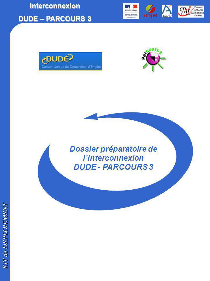 Dossier préparatoire de l'interconnexion DUDE - PARCOURS 3