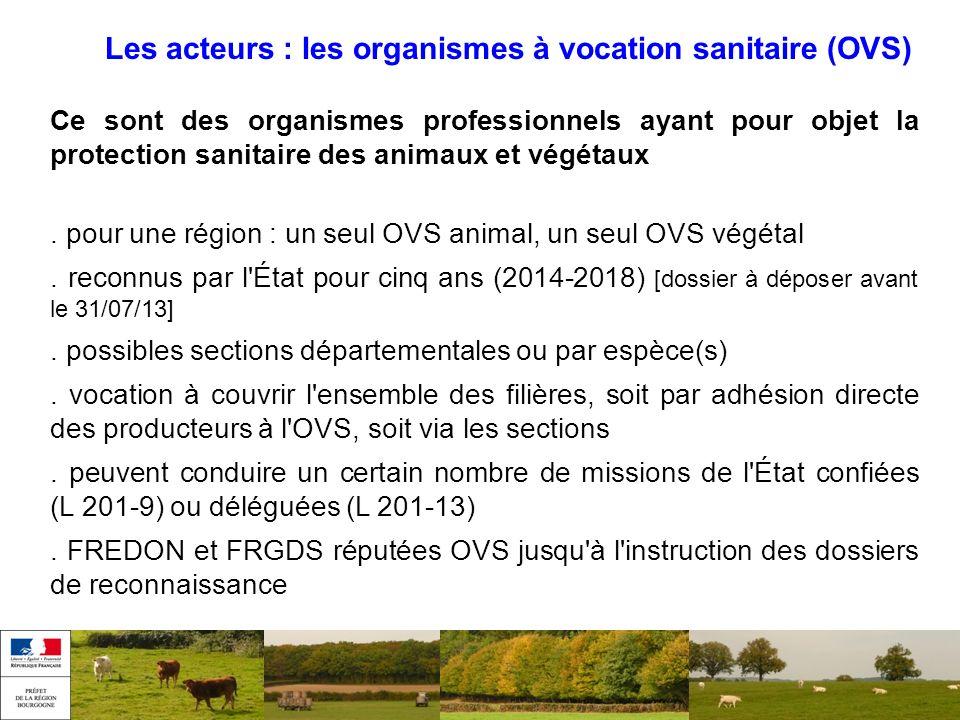 Les acteurs : les organismes à vocation sanitaire (OVS)