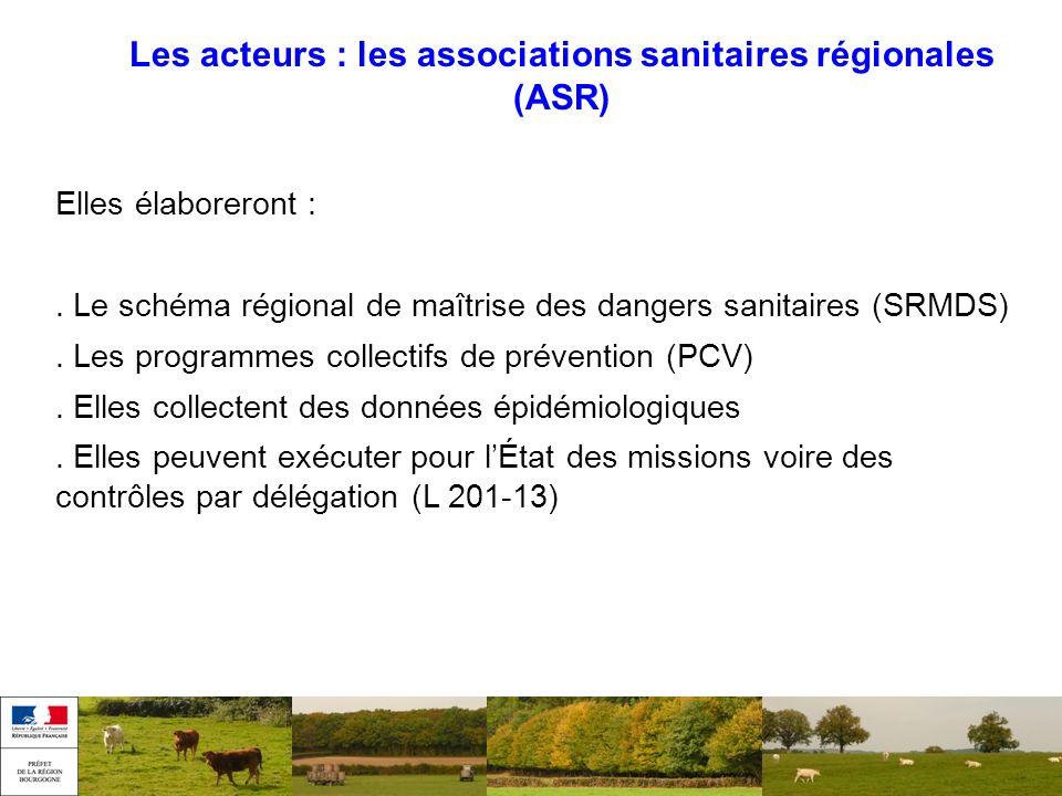 Les acteurs : les associations sanitaires régionales (ASR)