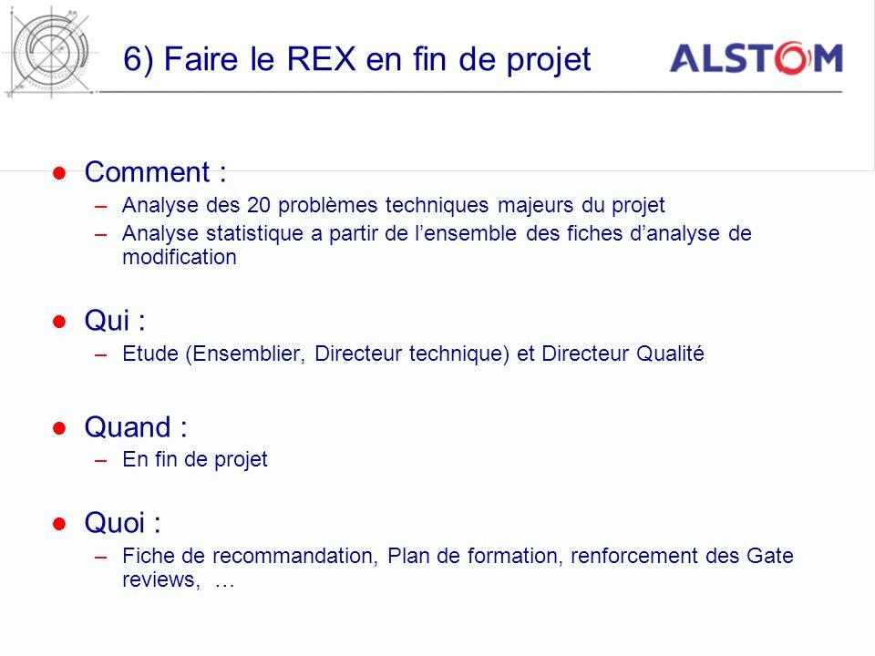6) Faire le REX en fin de projet