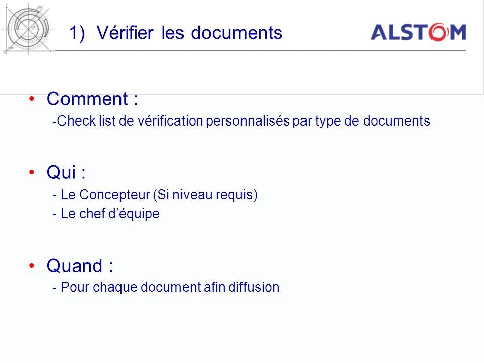 Vérifier les documents