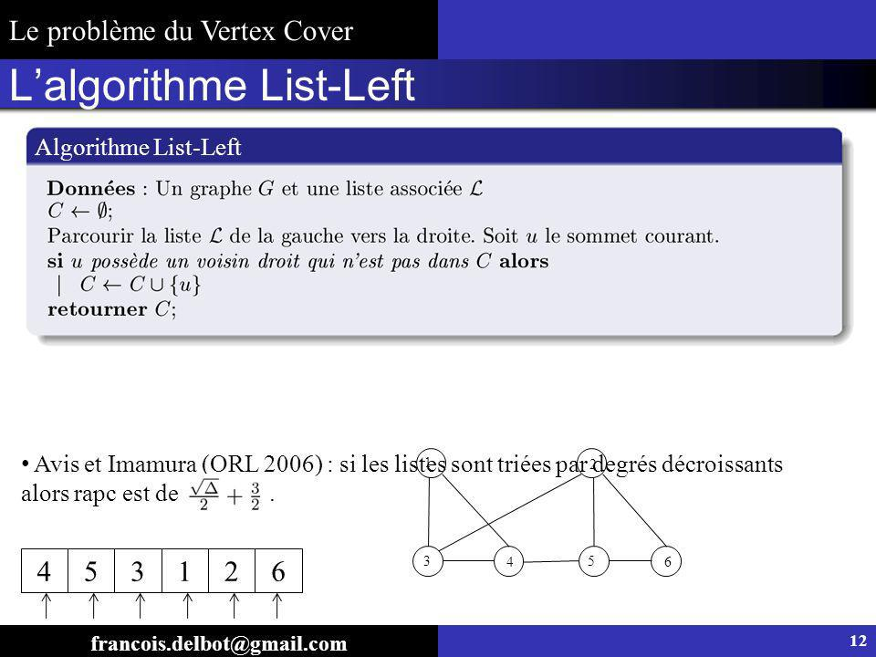 L'algorithme List-Left