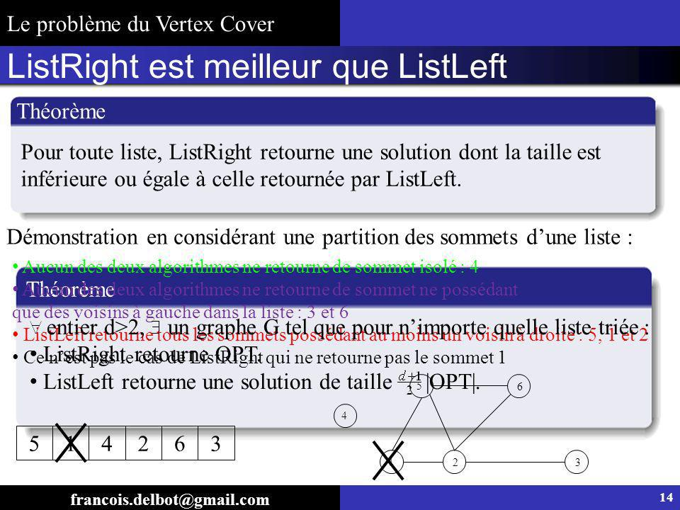 ListRight est meilleur que ListLeft