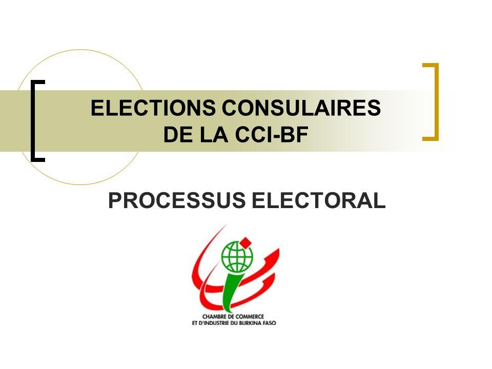 ELECTIONS CONSULAIRES DE LA CCI-BF