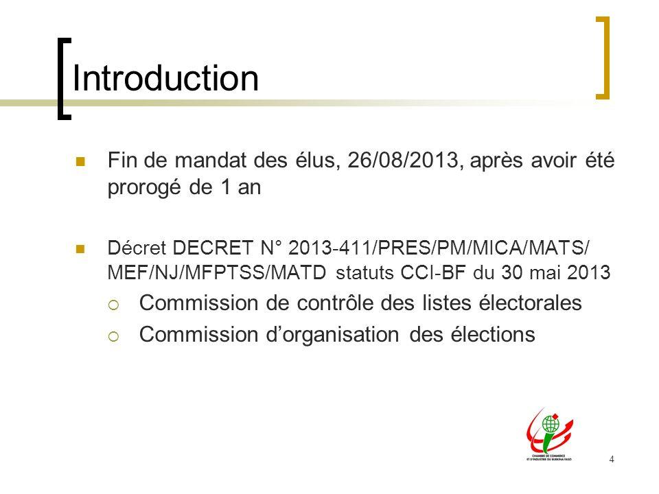 Introduction Fin de mandat des élus, 26/08/2013, après avoir été prorogé de 1 an.