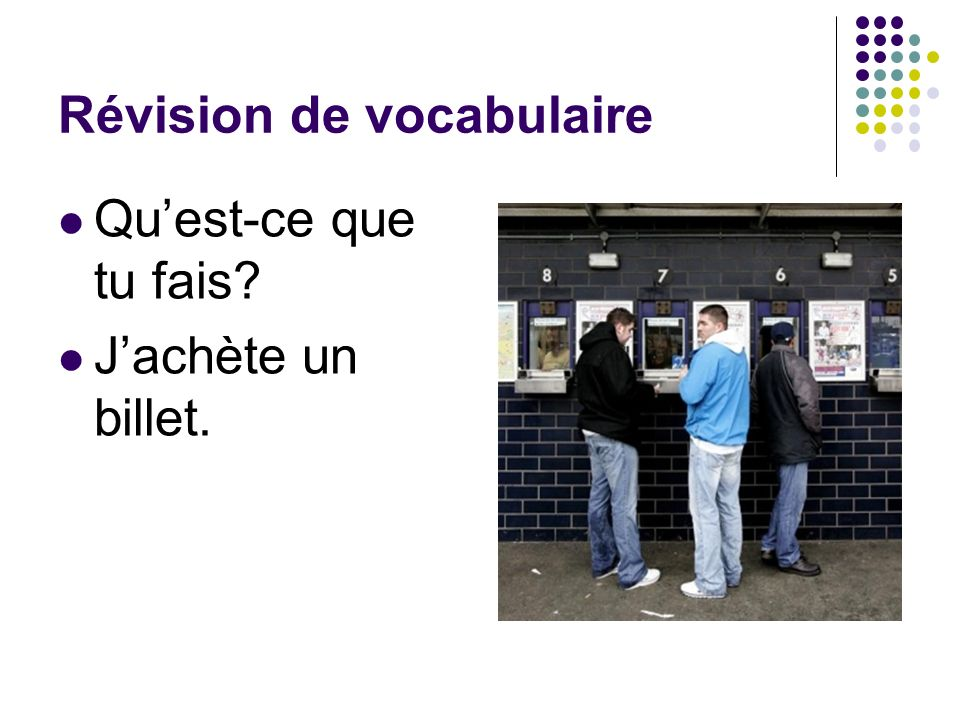Révision de vocabulaire