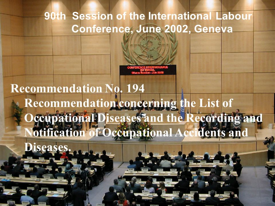 90th Session of the International Labour Conference, June 2002, Geneva