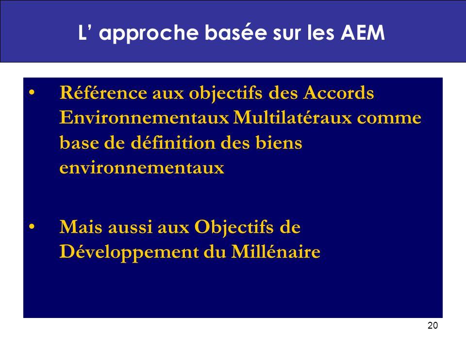 L' approche basée sur les AEM