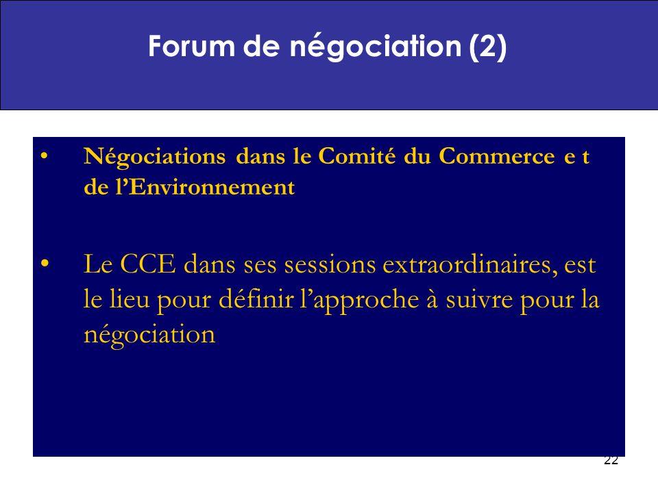 Forum de négociation (2)