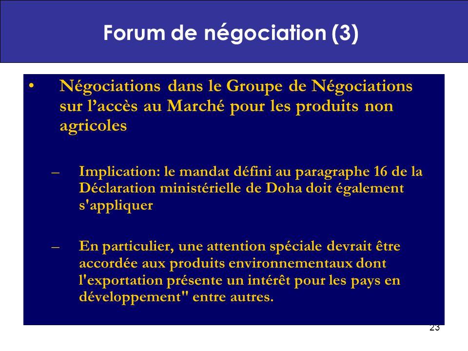 Forum de négociation (3)