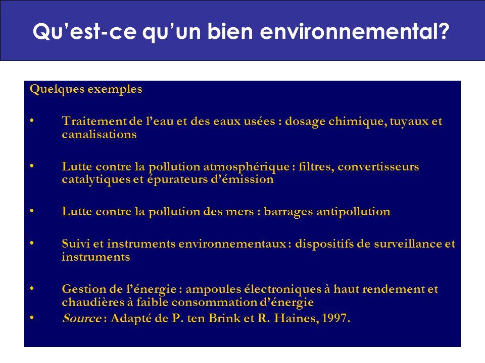 Qu'est-ce qu'un bien environnemental
