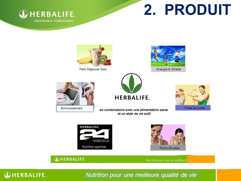 2. PRODUIT Nutrition pour une meilleure qualité de vie 112